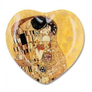 postrežni krožnik, steklo, gustav klimt, darilo za rojstni dan, darilo za obletnice, darilo za poroko