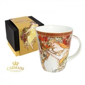Skodelica za čaj Mucha, darila za rojstni dan, poslovna darila