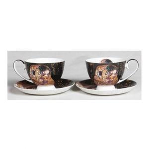 Set skodelic za čaj, Set skodelic za kavo, Klimt, Poljub, darila za rojstni dan, poslovna darila, kaj kupiti za darilo, darila za obletnico