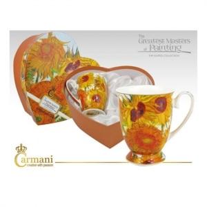 set skodelic, skodelica za kavo, skodelica za čaj, darilo, vincent van gogh, sončnice