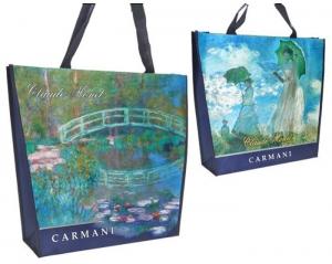 Vodne lilije, Ženska z dežnikom, Claude Monet, Impresionizem, Vreča, Torba, Darilo