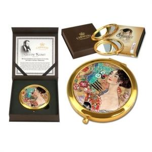 Žepno ogledalo, dama s pahljačo, Klimt, darila, darilo za rojstni dan, darilo za njo, darilo za mamo, darila za obletnico, darila za valentinovo