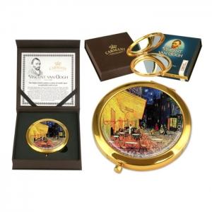 Žepno ogledalo, kavarniška terasa ponoči, Vincent van Gogh, darila, darilo za rojstni dan, darilo za njo, darilo za mamo, darila za obletnico, darila za valentinovo